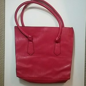 Elizabeth Arden red tote bag